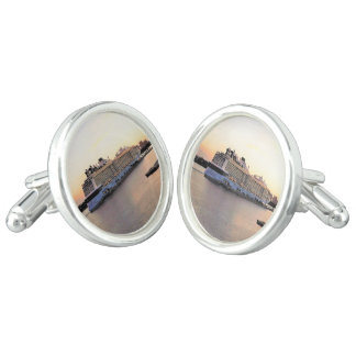 Nassau Harbor Daybreak with Cruise Ship Cuff Links