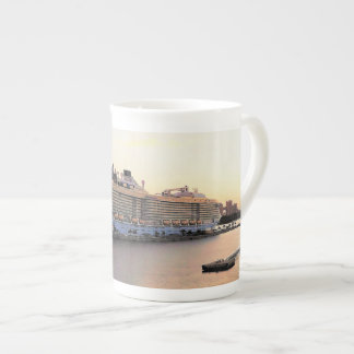 Nassau Harbor Daybreak with Cruise Ship Tea Cup