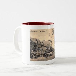 Nassau St., Princeton, New Jersey Vintage Two-Tone Coffee Mug