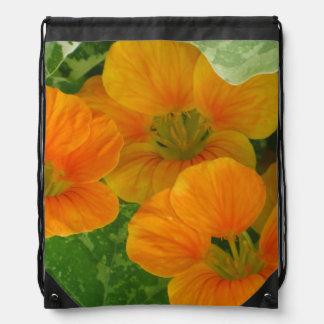 Nasturtium Blossom Drawstring Bag