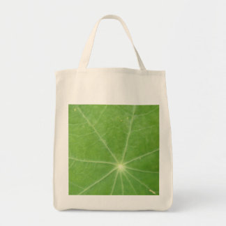 Nasturtium Leaf Organic Grocery Tote Bag