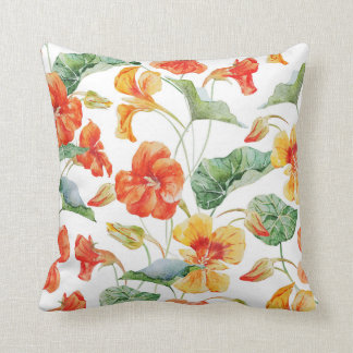 Nasturtium pillow (White)