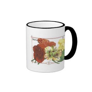Nasturtium Tall Seed Packet Coffee Mug