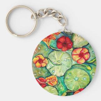 Nasturtium Water Fantasy Key Ring