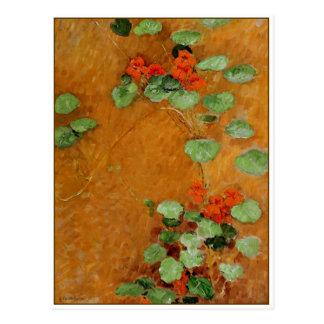Nasturtiums by Gustave Caillebotte Postcard