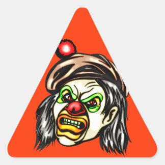 Nasty Evil Clown Triangle Sticker