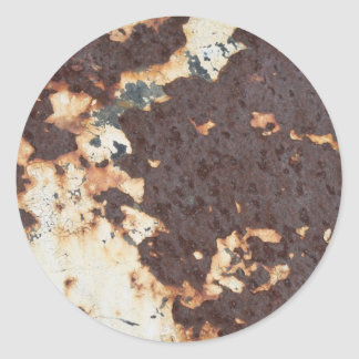 Nasty Metal Rust Classic Round Sticker