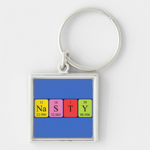 Nasty periodic table name keyring keychains