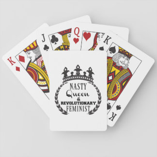 Nasty Queen Feminist Playing Cards