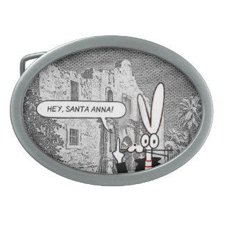 "Nasty Rabbit custom ""Alamo"" belt buckle"