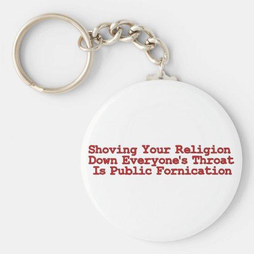 Nasty Religion Pushers Key Chains