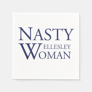 Nasty Wellesley Woman Cocktail Napkins Disposable Napkins