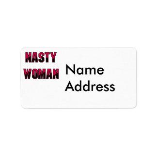 Nasty Woman Address Label