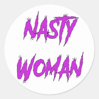 Nasty Woman Classic Round Sticker
