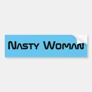 Nasty Woman - futuristic black text bumper sticker