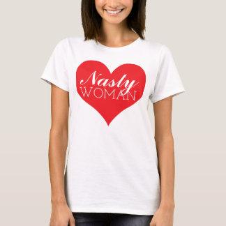 Nasty Woman Heart - Hillary Clinton Anti Trump T-Shirt