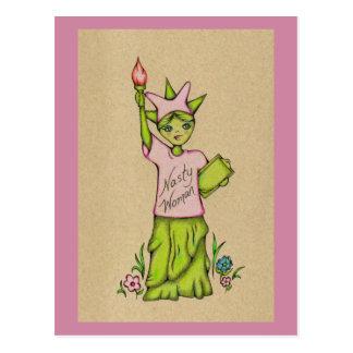 Nasty Woman Lady Liberty Postcard