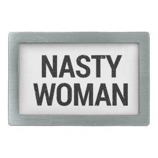 Nasty Woman Rectangular Belt Buckle