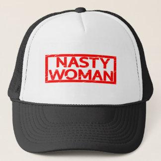 Nasty Woman Stamp Trucker Hat