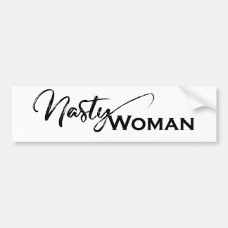 Nasty women elegant items bumper sticker