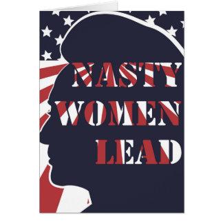 Nasty Women Lead Political Democratic Feminism Card