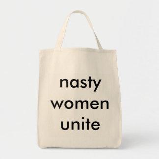 nasty women unite tote bag