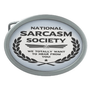 Nat' Sarc' Soc' -Hear Oval Belt Buckles
