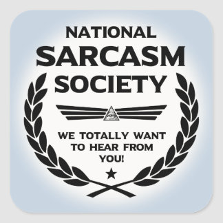 Nat' Sarc' Soc' -Hear Square Sticker