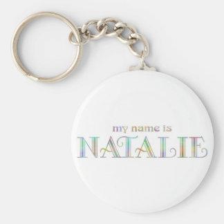 Natalie Basic Round Button Key Ring