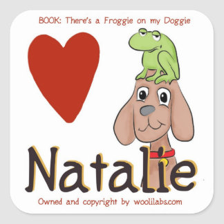 Natalie Froggie on Doggie Stickers