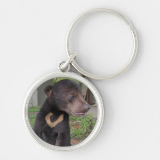 NATALIE SUN BEAR Silver-Colored ROUND KEY RING