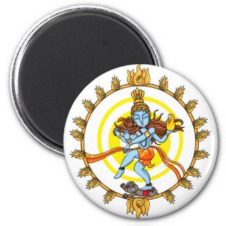 Nataraja 6 Cm Round Magnet