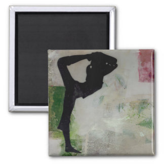 Natarajasana Yoga Girl - Square Magnet