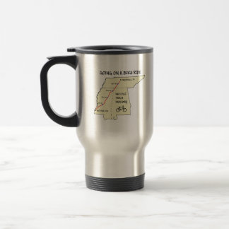 Natchez Trace Route Map Travel Mug