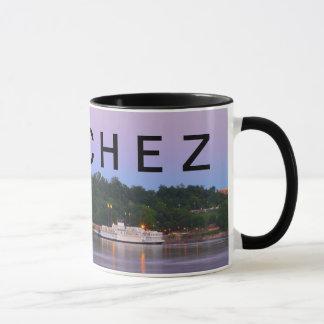 NATCHEZ ~ Under The Hill Riverboat Sunset Mug