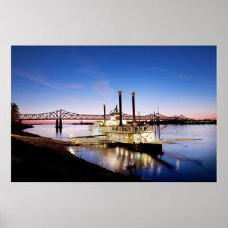 Natchez–Vidalia Bridge and Riverboat Casino Poster