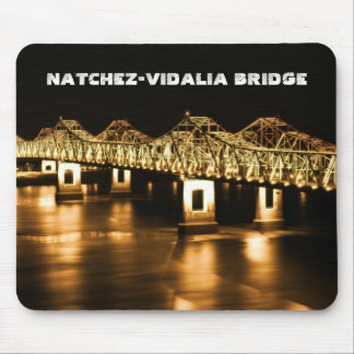 Natchez-Vidalia Mississippi Bridge Computer Pad Mousepads