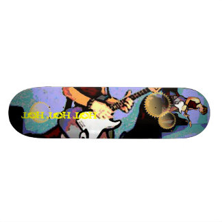 Nate and Guitar Custom Skateboard