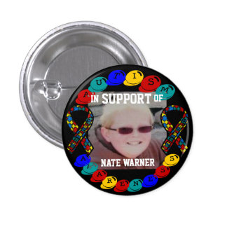 Nate Autism awareness Button