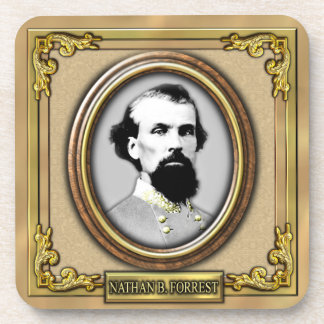 Nathan B. Forrest Civil War Drink Coasters