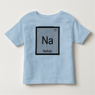 Nathan Name Chemistry Element Periodic Table Tee Shirt