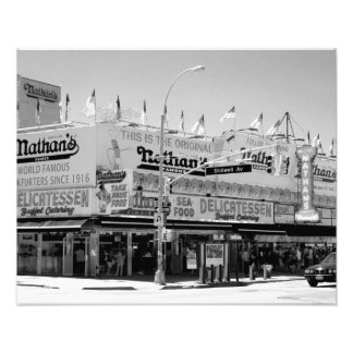 Nathan s Famous Hot Dogs Photographic Print