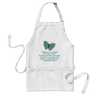 Nathaniel Hawthorne Butterfly Happiness Quote Standard Apron
