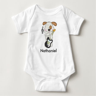 Nathaniel's Rock and Roll Puppy Baby Bodysuit