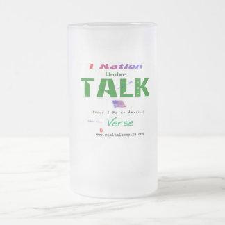 nation - glass frosted glass mug