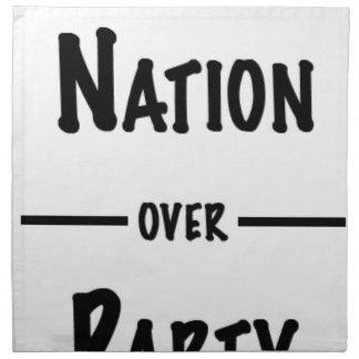 Nation over Party gift collection Napkin