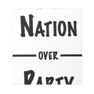 Nation over Party gift collection Notepad