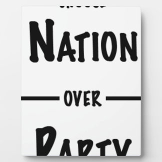 Nation over Party gift collection Plaque