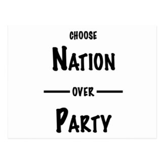 Nation over Party gift collection Postcard
