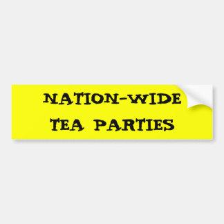 NATION-WIDE TEA PARTIES BUMPER STICKER